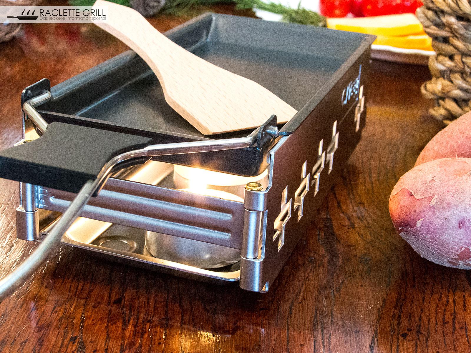 raclette candle light testbericht raclette mit teelichtern. Black Bedroom Furniture Sets. Home Design Ideas