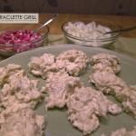 Belag und Teigrohlinge für Raclette-Flammkuchen