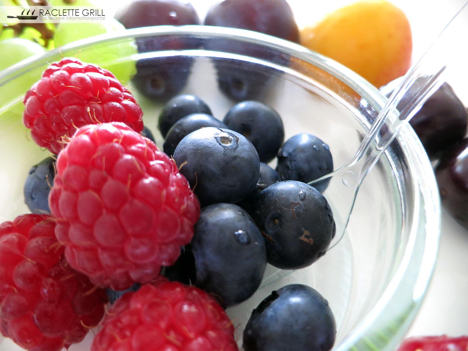 Früchte Nachtisch zum Raclette
