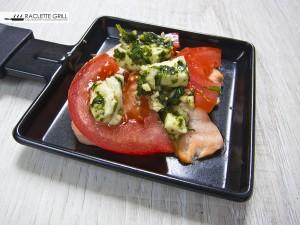 Tomaten Lachs Mozzarella vor der Zubereitung