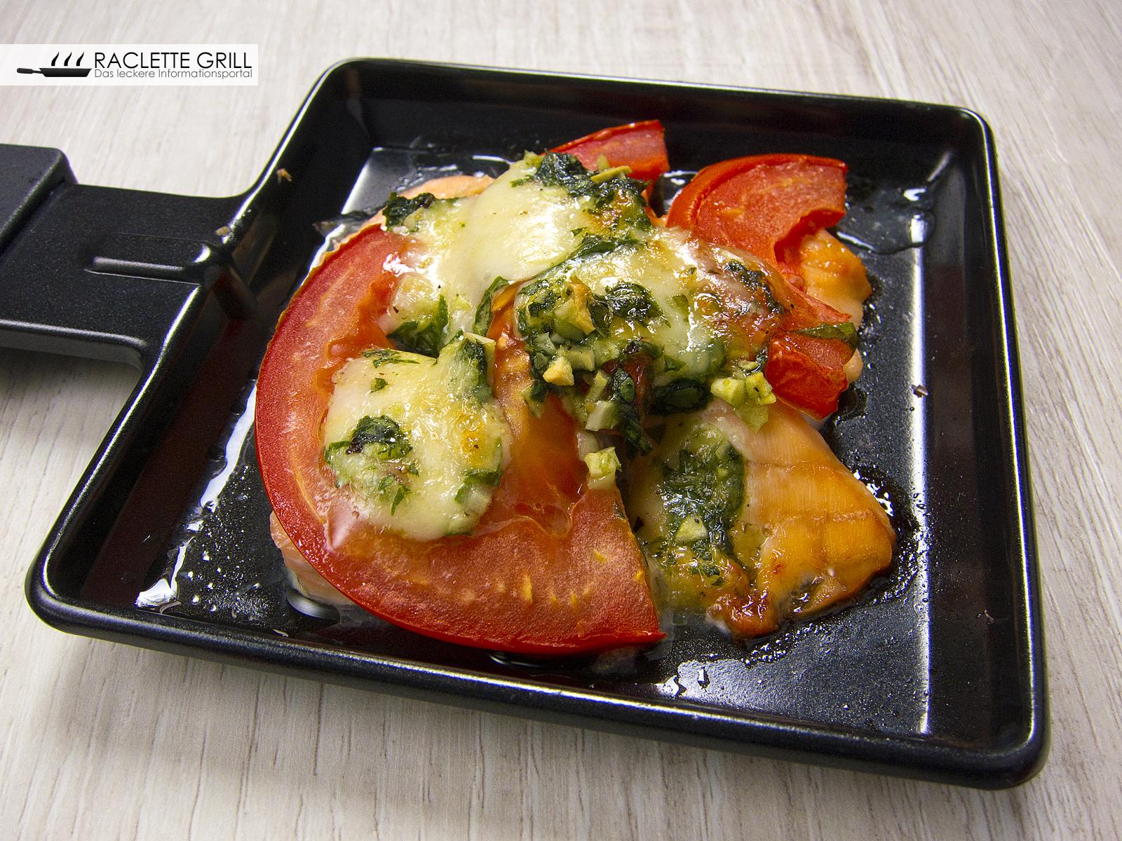 Vorsicht heiß und lecker: Tomaten Lachs Mozzarella Raclette