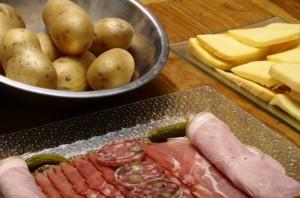 Raclette Rezept: Kartoffeln mit Spreckmantel