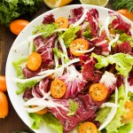 Radicchio-Salat mit Orangen